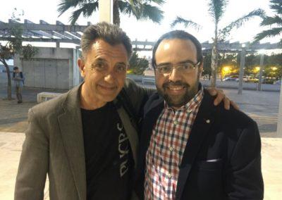 Con Miguel Florido